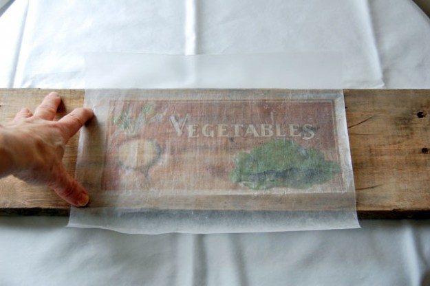 вощеная бумага с флоковыми чернилами: