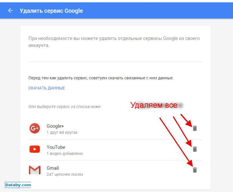 Как удалить все фото с гугл плюс