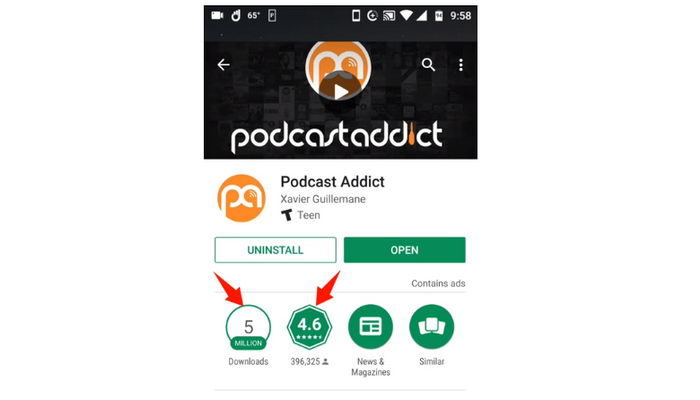 Podcast Addict Android