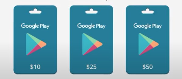 карта Google Play Gift Cards